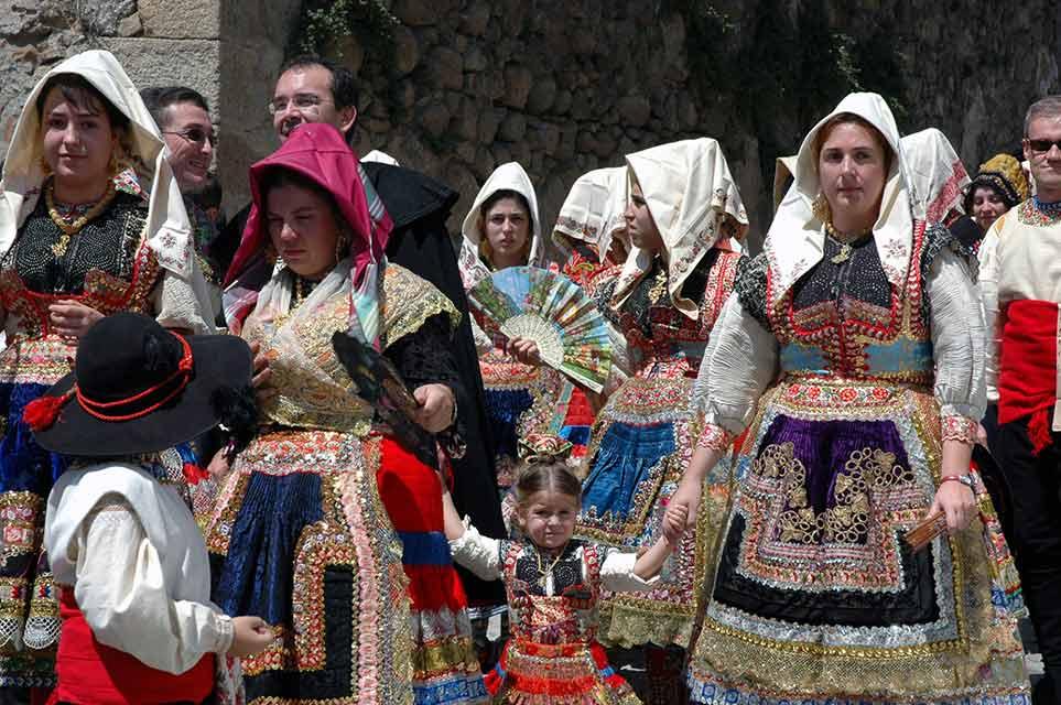 Lagarteranas con el Traje Tradicional del Corpus