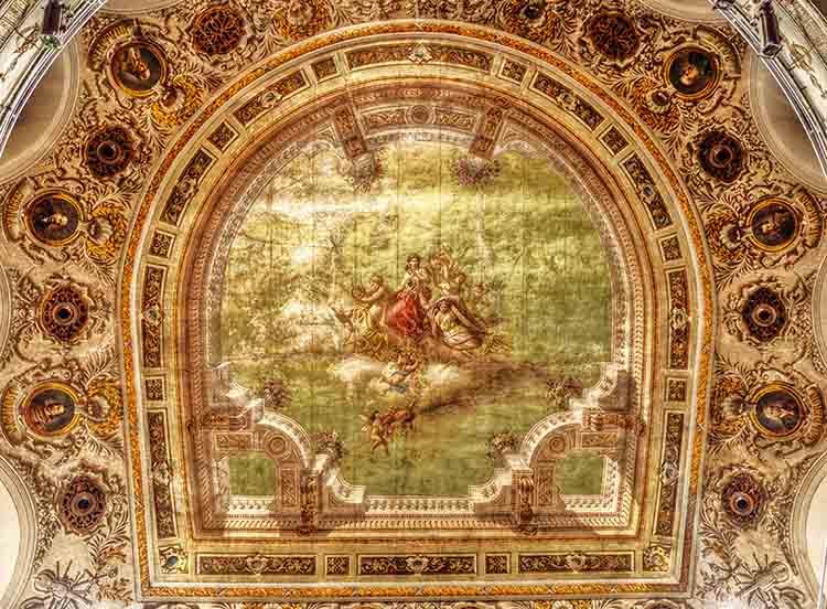 Techo del Teatro de Rojas de Toledo