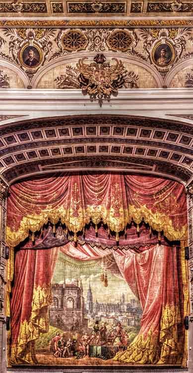 Telón del Teatro de Rojas de Toledo